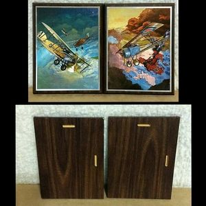 Other - VTG WW1 German French Airplane Wooden Plaques G3